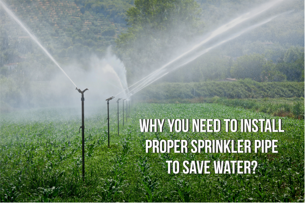 Why You Need To Install Proper Sprinkler Pipe To Save Water